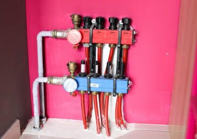 Installation d'un plancher chauffant par pompe à chaleur